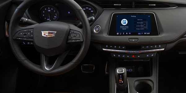Cadillac has rolled out parking assistance in a partnership with ParkWhiz.