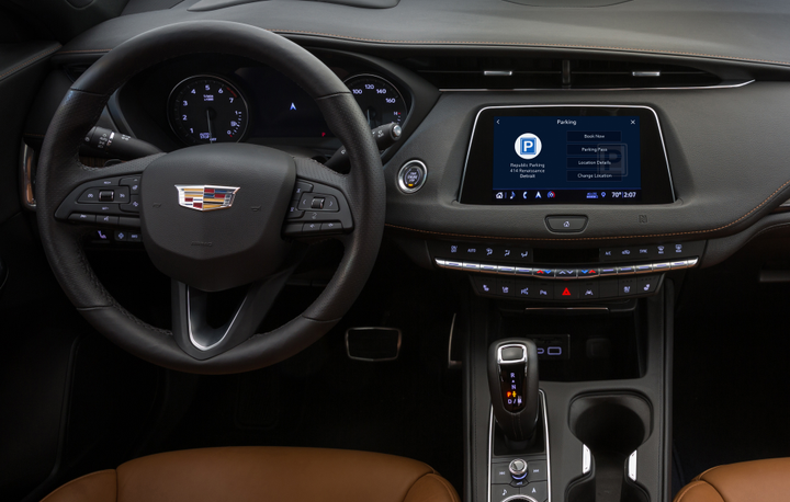 Cadillac has rolled out parking assistance in a partnership with ParkWhiz.  - Photo courtesy of GM.