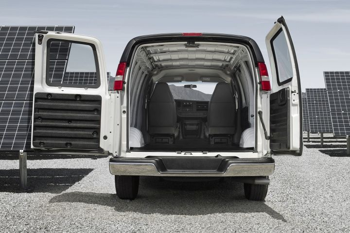 GM has recalled its 2016 to 2019 vans, including the Chevrolet Express (shown), for a possible rear window defect.  - Photo courtesy of GM.