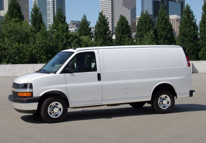 General Motors is recalling its Chevrolet Express and GMC Savana full-size vans for a seat-belt warning issue.  - Photo courtesy of GM.