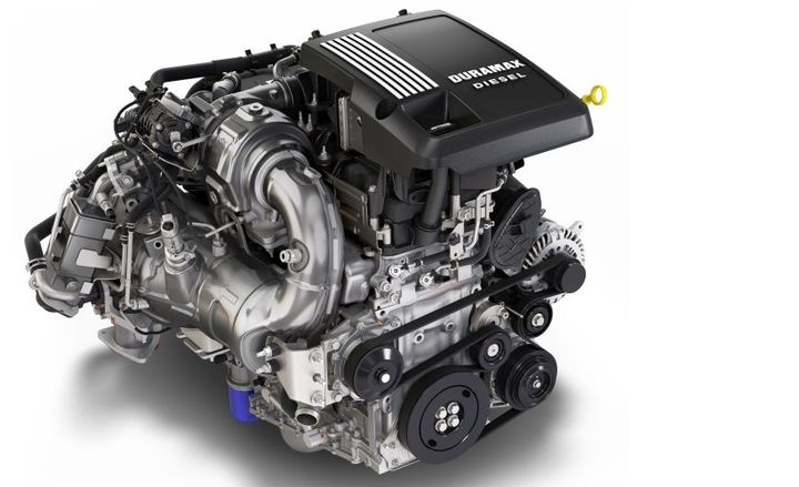 GM's Duramax 3.0L V-6 turbodiesel will offer 277 hp and 460 lb.-ft. of torque when it goes on sale this summer.