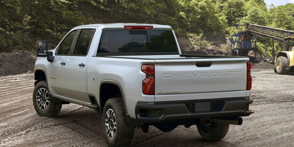 Chevrolet's 2020 Silverado 2500HD (shown in Work Truck trim) and 3500HD can two up to 52% more...