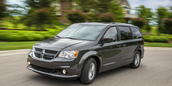 FCA has recalled four nameplates, including the Dodge Grand Caravan (shown) for a rear brake...