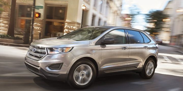 Ford is recalling its 2018 Ford Edge (shown) and Lincoln MKX midsize SUVs for a defect in the...