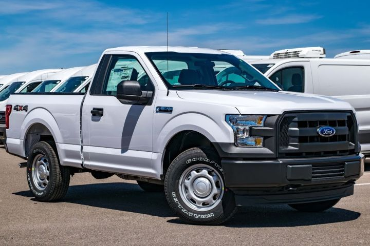Ford is recalling two cab configurations of its F-150 from four model years, including the regular cab model(shown here).  - Screenshot via Peoria Ford Commercial Fleet.