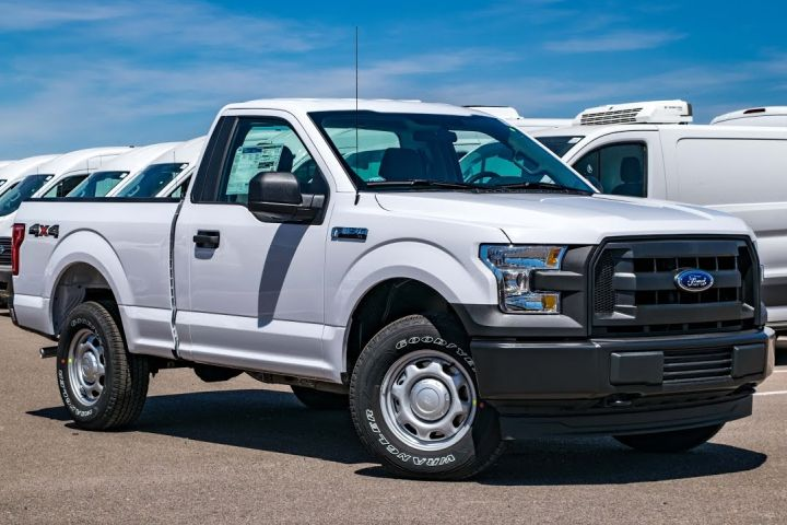 Ford is recalling two cab configurations of its F-150 from four model years, including the regular cab model (shown here).
