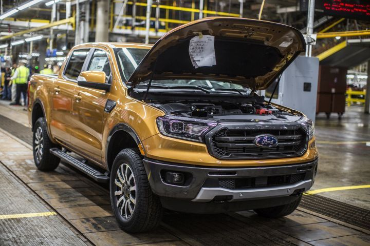 Ford has begun building its 2019 Ranger pickup at the Michigan Assembly Plant.