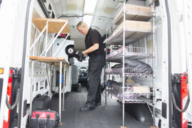 Ford Shows Its Vans Equipped for Work