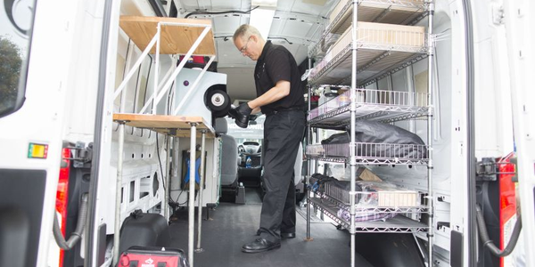 Ford has seen a proliferation of mobile businesses such as The Shoe Shine Guys using its Transit...