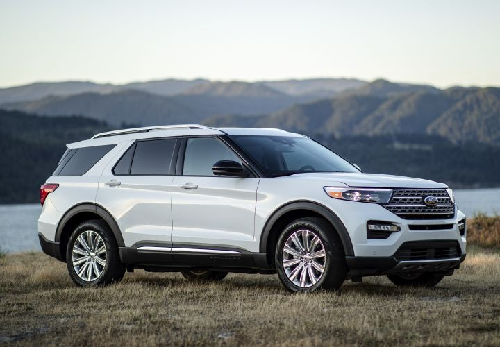 Ford is recalling its 2020 Explorer (shown) and 2020 Lincoln Aviator for a possible missing manual park release cover and instrument cluster issue.