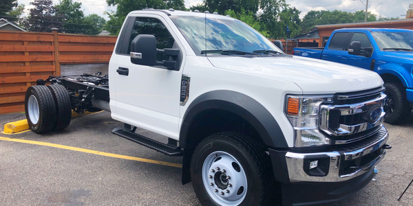 Ford showed its 2020 F-600 at a powertrain forum in Michigan.