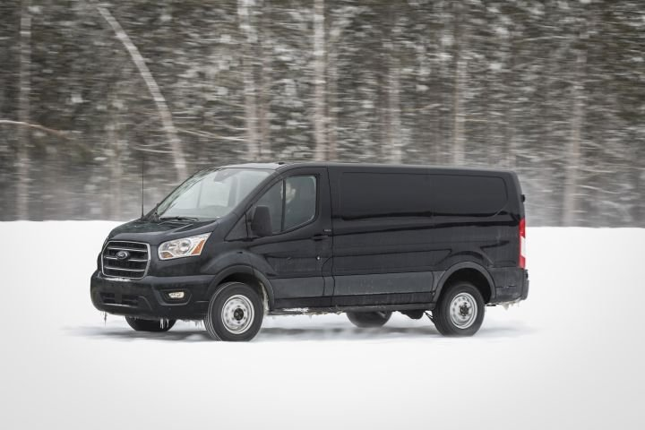 Ford's 2020 Transit full-size van adds all-wheel drive as part of a midcycle refresh.
