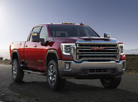 The 2020 GMC Sierra HD adds a more powerful diesel engine that can produce 445 hp and 910 lb.-ft. of torque.