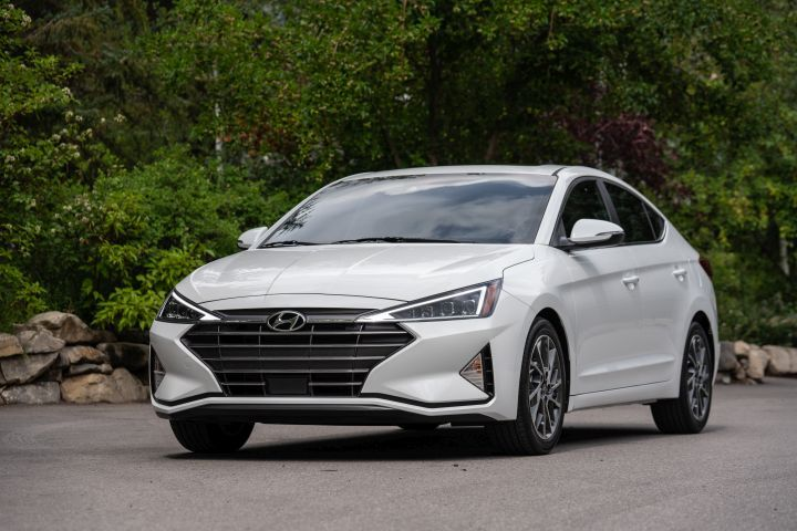 Hyundai's 2019 Elantra retails for $150 more than the outgoing model, and adds an array of safety technology.  - Photo courtesy of Hyundai.