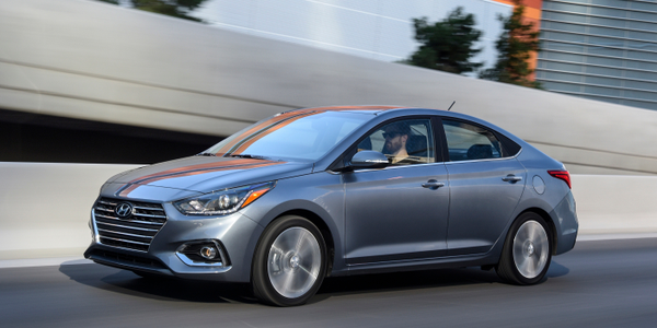 Hyundai's 2020 Accent adds a more efficient powertrain that significantly improves fuel economy.