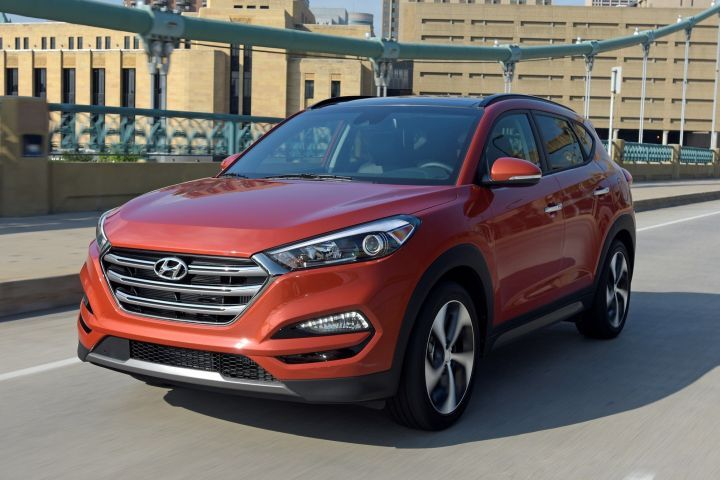 The 2017 Hyundai Tucson (shown) recorded the lowest average repair cost of $67.