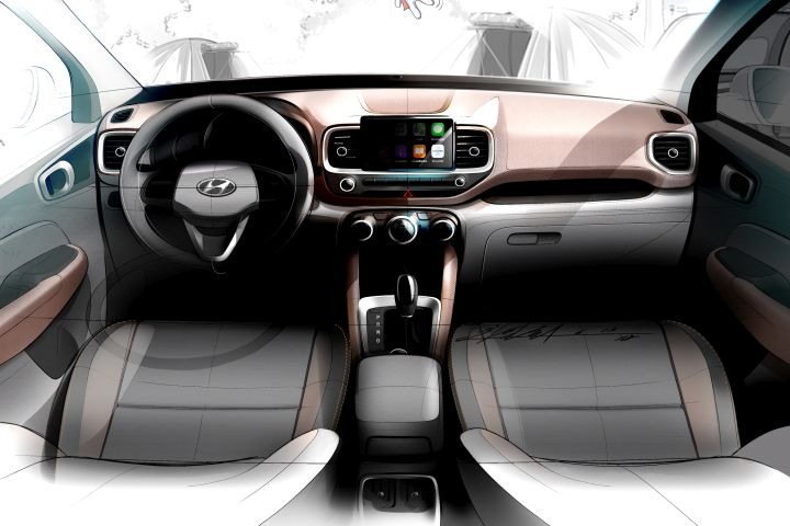 Hyundai's newest, smallest SUV will be known as the 2020 Venue.  - Sketch courtesy of Hyundai.