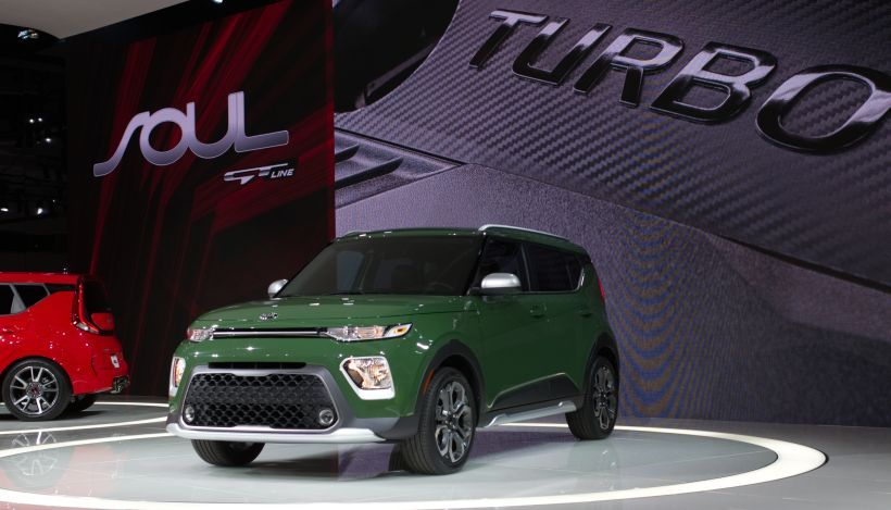The 2020 Kia Soul will come in six trims: LX, S, X-Line (shown), GT-Line, EX, and EX Designer...