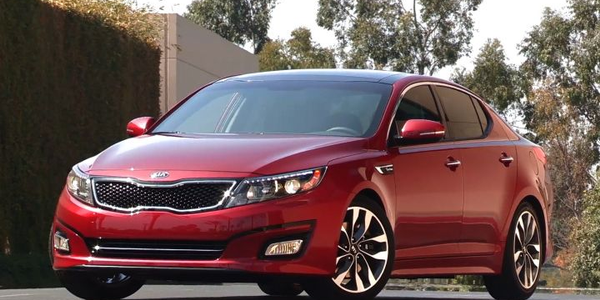 Kia has said it will recall 68,000 vehicles again, including the 2014 Optima (shown), for a fuel...