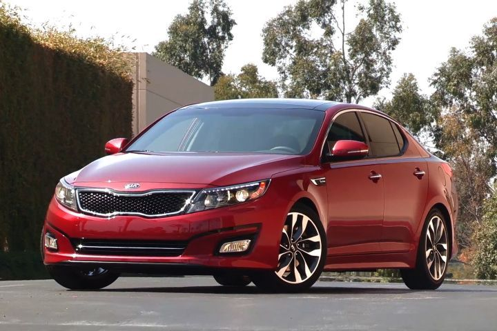 Kia has said it will recall 68,000 vehicles again, including the 2014 Optima (shown), for a fuel injector pipe issue that could lead to engine fires. The vehicles were initially recalled for this issue in 2015.