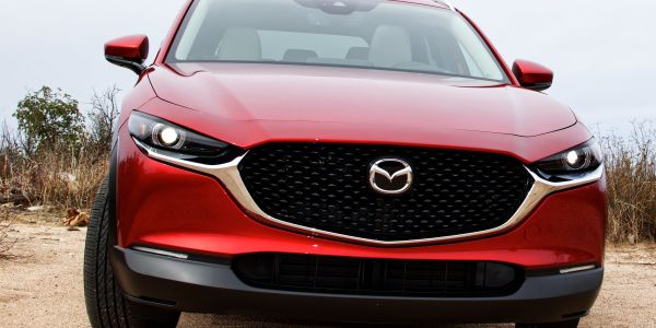 The starting MSRP of $21,900 before incentives and destination charges for the CX-30...