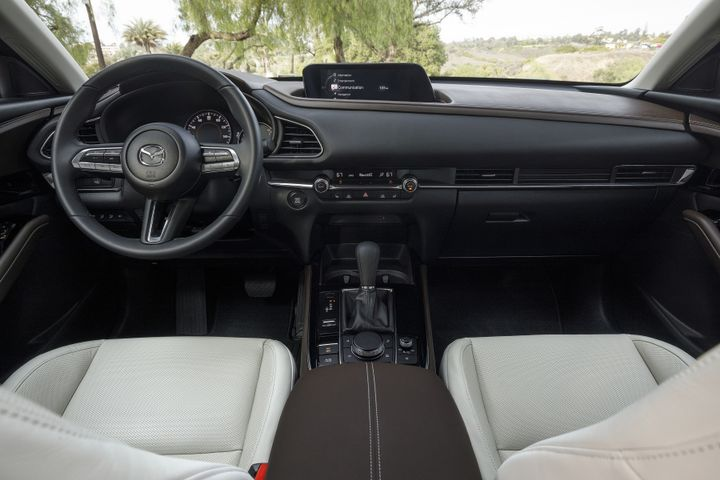 The infotainment system in the CX-30 will lose touch functionality and be completely controlled through dials and buttons that are easily accessible to the driver. - Photo courtesy of Mazda.