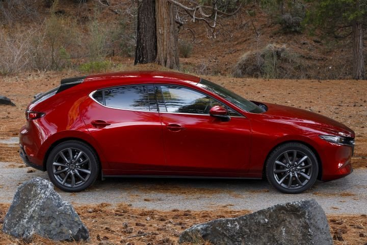 The 2019 Mazda3 sedan and hatchback (shown) have earned the IIHS Top Safety Pick.