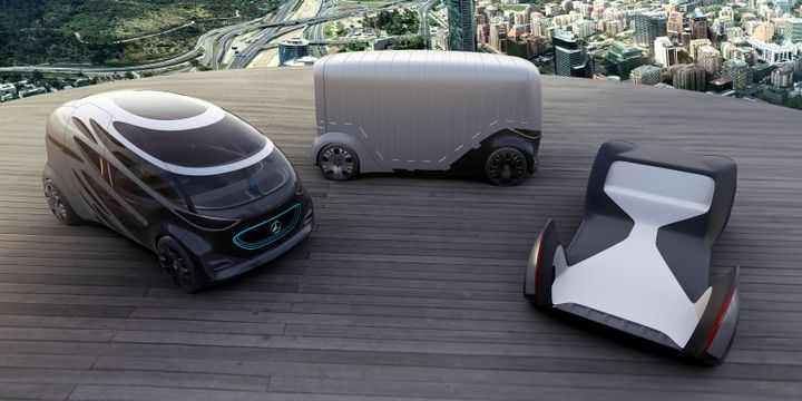 Mercedes-Benz Vans has developed three mobility concept vehicles that show the possibilities of future goods movement.