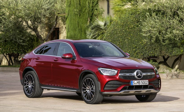 Mercedes-Benz will unveil its 2020 GLC300 Coupe at the New York auto show in April.
