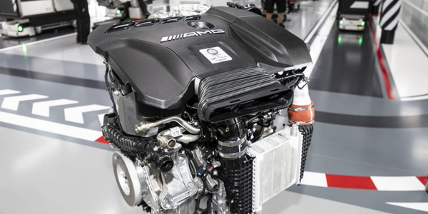 Mercedes-AMG engineers have produced a four-cylinder engine that makes more than 400 horsepower.