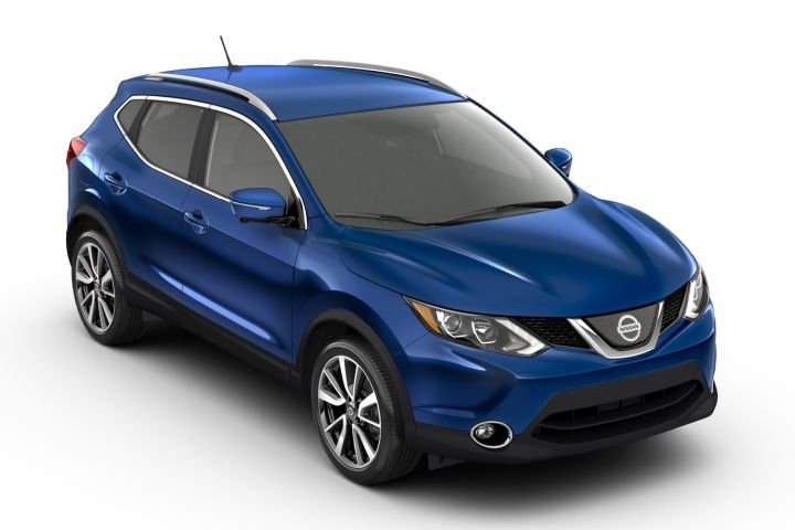 Nissan's Rogue Sport (shown) and Kicks subcompact crossovers arrive for 2019 with a few updates.