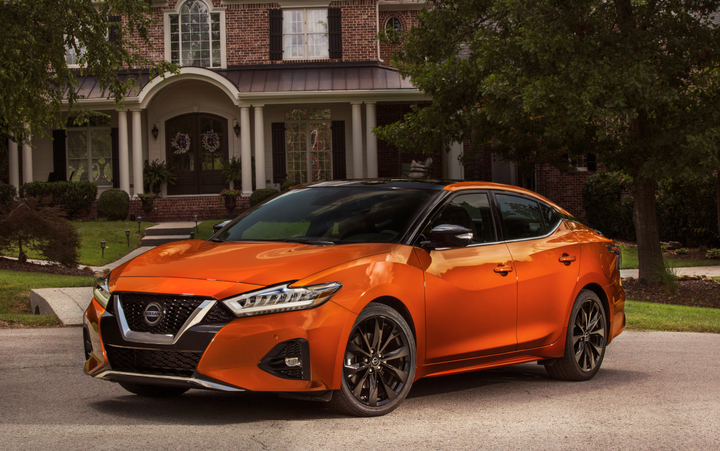 Nissan's 2020 Maxima midsize sedan will offer more standard safety equipment for a modest price increase.  - Photo courtesy of Nissan.
