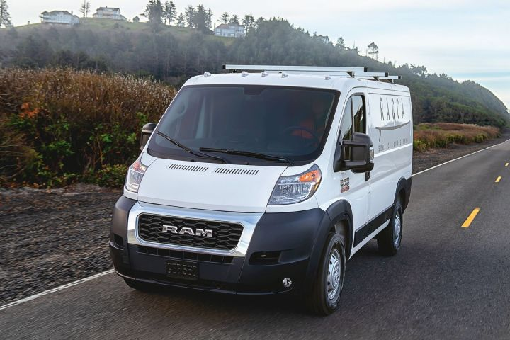 The Ram ProMaster full-size van will offer several features only to fleet buyers, including an orange seat belt.