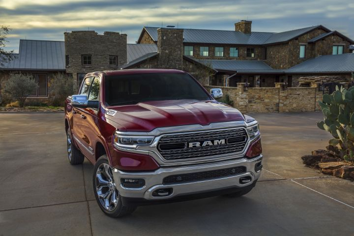 FCA is recalling a small number of its 2019 Ram 1500 trucks (shown) and Jeep Wranglers because the steering column stub shafts may break and cause the wheel to detach from the column.