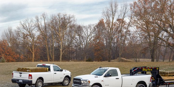 More than 5,000 Ram 2500 (left) and Ram 3500 trucks are being recalled because the brake...