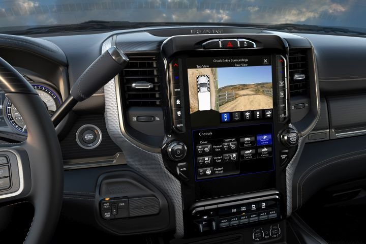 The 2019 Ram chassis cab trucks will offer a 12-inch touchscreen with split-screen capability for trailer views.