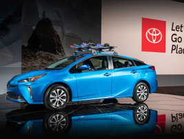 Toyota is adding an electrified all-wheel drive system as part of a refresh of the Prius for...