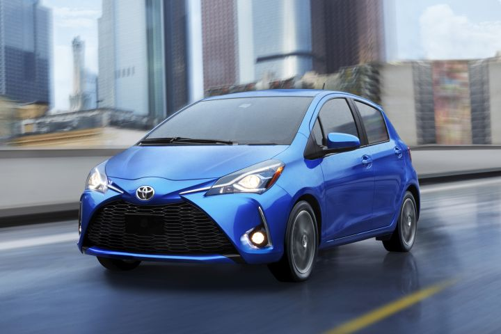 Toyota's head of North American operations is considering discontinuing several under-performing car models, including the Yaris subcompact car (shown).  - Photo courtesy of Toyota.