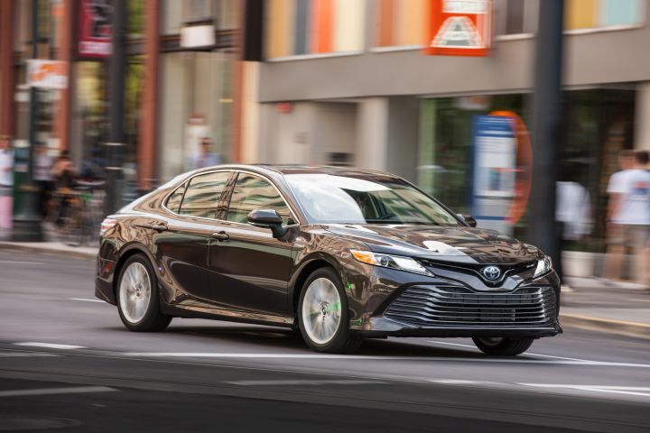 Toyota is adding Apple CarPlay to its 2019 Camry lineup, which includes the Camry Hybrid XLE (shown).