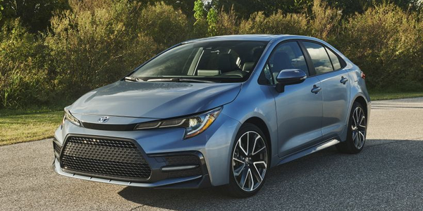 Toyota is recalling three 2020 models for a seat belt defect, including the Corolla (pictured).