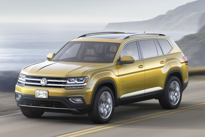 Volkswagen recalled the 2019 Atlas (shown) and two of its cars for a possible defect involving rear axle coil springs.