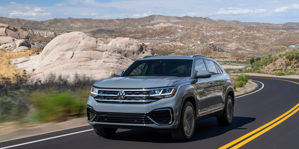Volkswagen's 2020 Atlas Cross Sport is a five-passenger midsize SUV based on the larger Atlas.