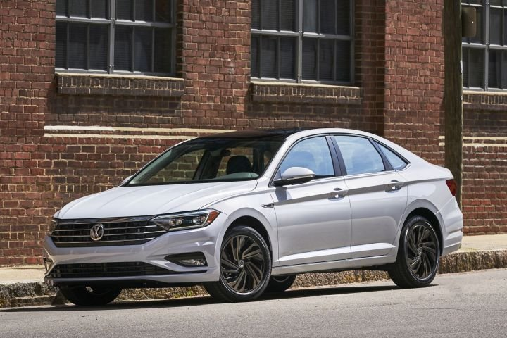 Volkswagen is recalling four 2019 vehicles, including its Jetta (shown), for a possible defect involving the rear coil springs.