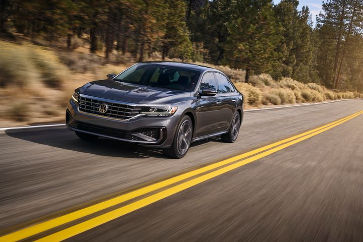 The face-lifted 2020 Passat midsize sedan retails for at least $23,915. - Photo courtesy of Volkswagen.
