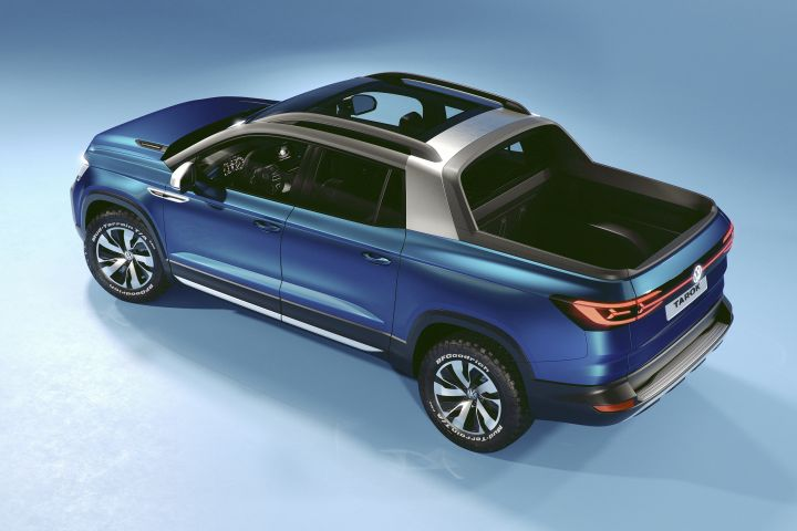 Volkswagen's Tarok concept small pickup is slated to go on sale in Brazil this year.  - Photo courtesy of Volkswagen.