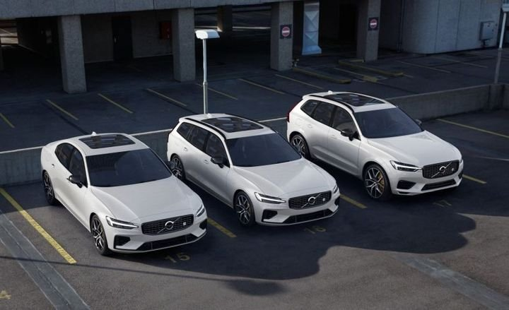 Volvo's 2020 60-Series lineup will offer a plug-in hybrid as a Polestar Engineered trim for the (left to right) S60, V60, and XC60.