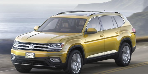Volkswagen will offer a $1,500 fleet incentive for its Atlas midsize SUV (shown).
