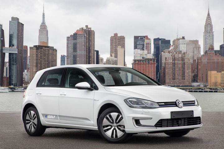 Volkswagen is recalling its e-Golf (show) and Audi A3 for a head restraint defect.  - Photo courtesy of Volkswagen.