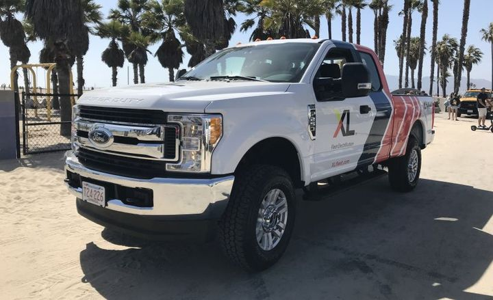 Vehicle modifier XL will begin selling its F-250 hybrid pickup in California after gainingcertification.  - Photo courtesy of XL.