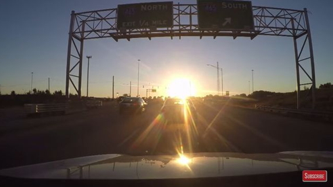 Driving at Sunrise and Sunset